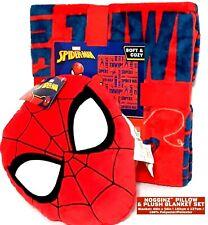 2 Pieces - Nogginz Marvel Spider-Man Pillow & Plush Blanket Set (40in x 50in)NWT