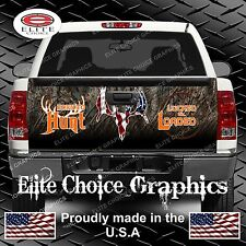 Born To Hunt Camo Truck Tailgate Wrap Vinyl Graphic Decal