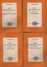 Storia della filosofia moderna. Quattro volumi. Cassirer. Einaudi. C90