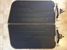 1993 Jeep Wrangler YJ full door panel pull handle clips cap... Cinder pair