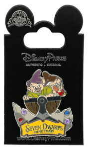 2014 Disney Seven Dwarfs Mine Train With Dopey & Grumpy Pin With Packing