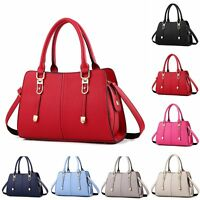 Womens Designer Leather Style Celebrity Large Shoulder Bag Tote Handbag Satchel