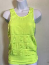 Women Fitness  One Size Lime Green Stretch Workout Tank Top