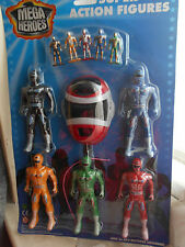 Light up mega super héros figurines play set 11 pièces power rangers