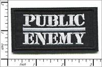 """Public Enemy~Hip Hop~LA Rap~Embroidered Applique PATCH~3"""" x 1 5/8""""~Iron Sew On"""