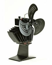 NEW 3 Blade Oscillating Heat Powered Stove Top Fan For Wood & Multi Fuel Stoves