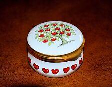 Rare Crummles & Co Apple Tree and Apples Miniature Trinket/Pill Box