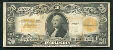 FR. 1187 1922 $20 TWENTY DOLLARS GOLD CERTIFICATE CURRENCY NOTE (E)