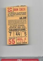 1968 Aug 4 baseball ticket California Angels Boston Red Sox, Yaz 3 RBI