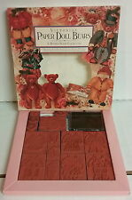 Rubber Stamp Collection Victorian Paper Doll Bears 15 Pieces Outfits & Accessori