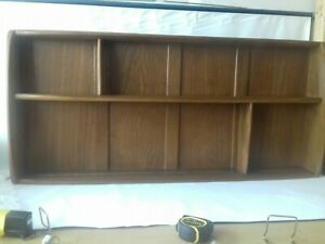 Vintage Ercol Wall Mounted Shelf Plate Rack Mid Century Blue Label