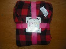 Womens NWT Joe Boxer PLUS SIZE Flannel Pajama SET Lumberjack Plaid Red Black 2X