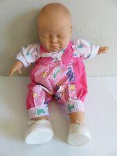 "Vintage Berjusa Sleeping Infant Vinyl & Cloth Reborn Baby Doll over 2lbs 22"""