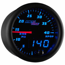 MaxTow 52mm Black & Blue  High Pressure Oil Pressure HPOP Gauge - MT-BDV21