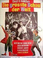 JAMES STEWART + GRÖSSTE SCHAU DER WELT + CHARLTON HESTON +