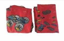 LEGO RACER Bedding SET Complete FLAT TOP SHEET Fitted Bottom Fabric TWIN SIZE