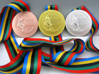 1992 Barcelona Olympic Gold Silver Bronze Medal Set&Ribbons 1:1**Free Shipping**