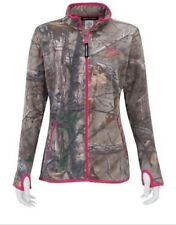 Womens Realtree hunting fleece camo jacket with pink