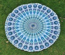 Indian Mandala Tapestries Round Beach Throw Wall Hanging Roundie Yoga Mat Decor