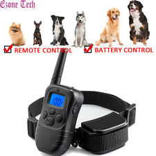 No Bark Dog Shock Training Collar Remote/Battery Control Waterproof Rechargeable