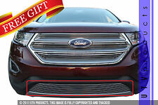 GTG 2015 - 2017 Ford Edge 1PC Polished Overlay Bumper Billet Grille Grill