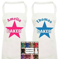 Star Baker Apron Personalised with Name Cooking Baking Gift Present