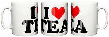 """Funny Mug Cup """"I Love Heart Tea"""" Tea Coffee Birthday Christmas Present Gift"""