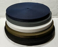 20mm Polypropylene Webbing Strapping Lead Tape - Various Colours and Lengths