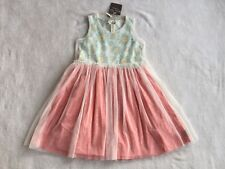 NEW Matilda Jane Secret Fields Special Snowflake Mesh Overlay Dress Size 8 NWT