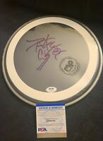 PETER CRISS SIGNED DRUMHEAD KISS GENE SIMMONS ACE FREHLEY PSA/DNA AUTHENTICATED