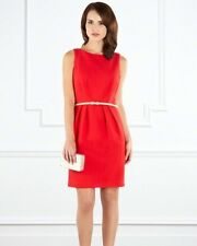 BNWT❤️️Coast❤️Size 16 Terri Dress Red With Belt Evening Weddings Party (44EU)New