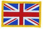 UK FLAG UNION JACK ENGLAND BIKER FLAG PATCHES PATCH IRON ON GLUE EMBROIDED