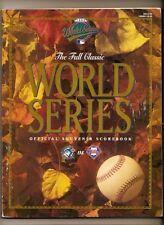1993 World Series Program Blue Jays Phillies