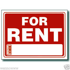 "5 Pcs 9 x 12 Inch Red & White Flexible Plastic "" For Rent "" Sign"