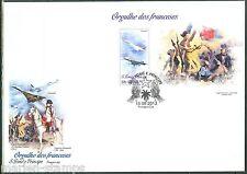 SAO TOME 2013 FRENCH PRIDE NAPOLEON CONCORDE DeGAULLE SOUVENIR SHEET FDC