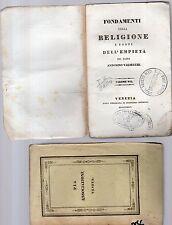 fondamenti della religione e fonti dell empieta'-p.antonino valsecchi -vol.setti