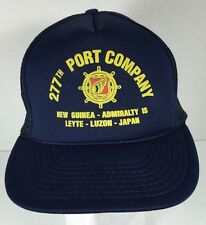 SCK 227th Port Company New Guine Admirality Mesh Foam Snapback Trucker Hat