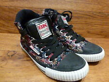 British Knights Red Daisies Hi Top Casual Trainers Size UK 13K EUR 32