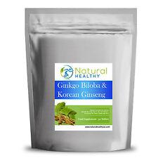 30 Ginkgo Biloba & Korean Ginseng Pills - Sustain normal energy levels - memory.