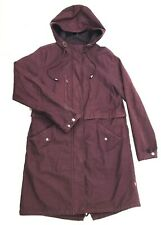 Levi's Women's Cotton Maroon Hooded Parka Size Medium Long