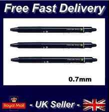 3 x Pilot FriXion Ball Clicker 0.7mm Erasable Rollerball Gel Pen BLACK INK CHEAP