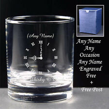 Personalised Engraved Whisky, Gin, Brandy Glass Whiskey o'clock tumbler Gift