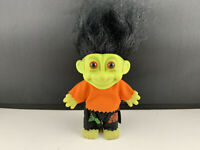 Vintage Russ Frankenstein Troll Doll w/ Black Hair 5 in.