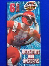 Happy Birthday Card, Boys, Age 6, Power Rangers