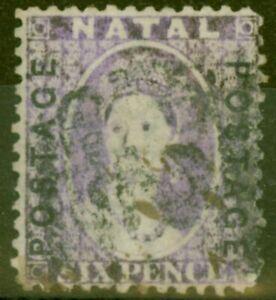 Natal 1873 6d Mauve SG62 Ave Used