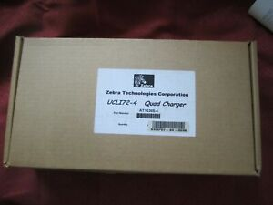 Brand New Zebra UCLI72-4 Quad Battery Charger with power supply in original box