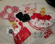 Huge Lot Of Build A Bear Clothes And Shoes VALENTINES DAY NEW DRESS SHOES HEART