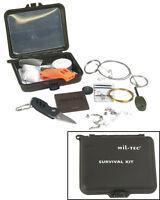 Mil-Tec Survival Kit Kunststoffbox 12x10x3,5cm Überlebensset Box Schachtel Kiste
