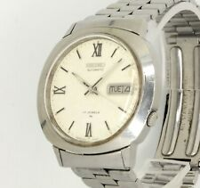 Mens Vintage SEIKO Pearl Dial 7009 8030 38mm automatic Day Date Seiko bracelet