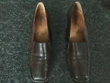 Gabor Ladies Brown Low Heel Shoes Size 6 H. Excellent Condition.